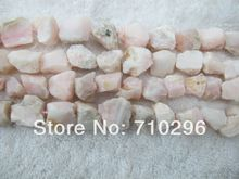 Natural Gem stone pink opal gem jewelry nugget stone beads 5strings/lot fit jewelry making(China (Mainland))