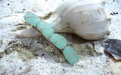 $18.00 Green Sea Glass Barrette by HappilyEmbellished on Etsy