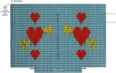 Heart-Key Clock Socks Pattern #72102 chart - Grace Ennis, Graphic Knitting Patterns