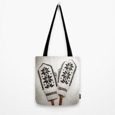Old knitted mittens Tote Bag by karidesign Knit Mittens, Poplin Fabric, Hand Sewn, Original Artwork, Stress, Reusable Tote Bags, America, Sewing, Shoulder