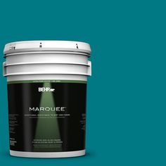 BEHR MARQUEE 5-gal. #P470-7 The Real Teal Semi-Gloss Enamel Exterior Paint