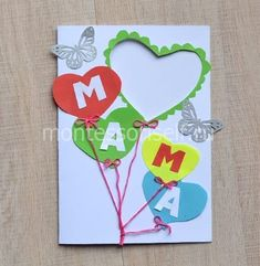 Mothers Day Crafts, Greeting Cards, Paper, Frame, Ideas, Diy Creative Ideas, Crafts, Creativity, Easy Crafts