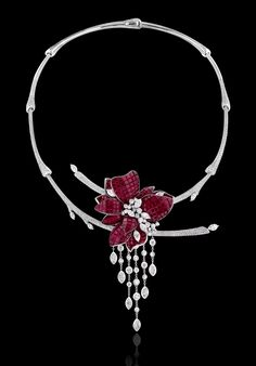 The Plum Blossom necklace of rubies and diamonds by Stenzhorn Jewelers (=)