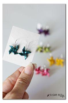 DIY Polymer Clay Pinwheel Earrings