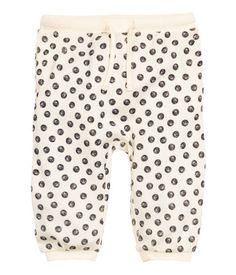 Natural white/dotted. Pants in a soft, fine-knit with a printed design…