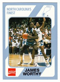 Basketball is a fun sport that a lot of people enjoy playing all over the world. Basketball History, Basketball Legends, Basketball Cards, College Basketball, Men's Basketball, Nba Today, James Worthy, Nba Pictures, Unc Tarheels