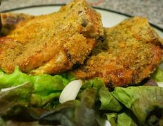 substitute crushed pork rinds for the breadcrumbs!!!! yum yum!!!Pesto and Cheese Stuffed Pork Chops: Easy Healthy Low Carb Meal - Carmen's Kitchen