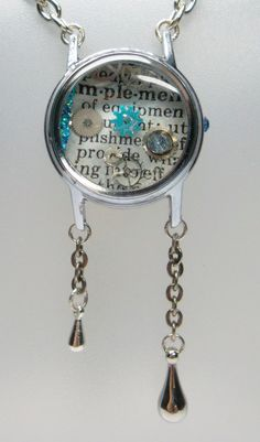 Dictionary Text Watch Case Pendant Implement   by wiggelhevin, $23.00