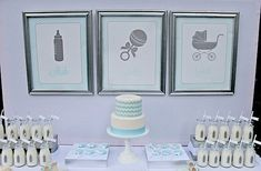 This is a beautiful idea for a classy baby shower.