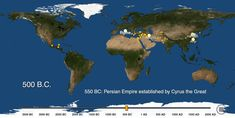 A Fascinating Map That Plots the Formation of New Cities Over the Course of the Last 6,000 Years