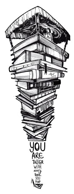 You are taller with every book you read by SillyJellie.deviantart.com on @DeviantArt