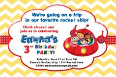 Little Einsteins Birthday Party Invitation Personalized and emailed to you