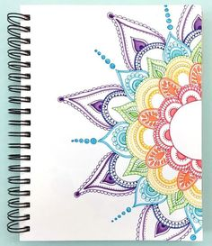 40 Beautiful Mandala Drawing Ideas & Inspiration · Brighter Craft 40 illustrated mandala drawing ideas and inspiration. Learn how you can draw mandalas step by step. This tutorial is perfect for all art enthusiasts. Mandala Doodle, Mandala Book, Doodle Art Drawing, Art Drawings Sketches, Easy Drawings, Sharpie Drawings, Drawing Step, Drawing Drawing, Colorful Drawings