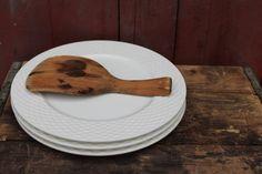 Vintage Ironstone Dinner Plates / Set of by JMFindsandDesigns