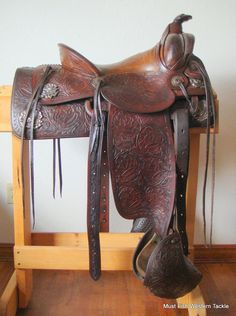 Item 004410 - Vintage Handmade Sterling Silver Visalia Conchos HH Schweitzer Matador Texas Saddle - Must Fish Western Tackle - Picasa Web Albums