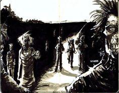 Michonne - The Walking Dead - Joel Gomez Scary Monsters, Cool Art, Awesome Art, Science Fiction Art, Comic Books Art, Werewolf, X Men, The Walking Dead, Vines