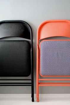 Transform a boring folding chair and use it as additional seating. | 26 Cheap And Easy Ways To Have The Best Dorm Room Ever