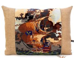 This pair of Cushions are unique and we have only One Pair-We have created using a vintage French Tapestry/Embroidery/Needlepoint which was completed by hand many years ago ! (we wash all our Tapestries by hand before creating each cushion- we do not use any harsh detergents- we then dry outside in the warm French air) - we have then created Two pillow covers by hand and with a machine- double stitching and over locking all edges to ensure they last for many more years.  Many hours-...