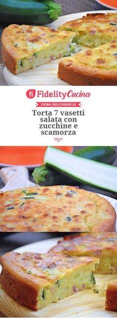 Torta 7 vasetti salata con zucchine e scamorza