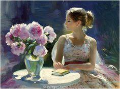 Vladimir Volegov 74. Peonies Violet (2012) *SOLD* http://www.volegov.com/peonies-violet-painting/