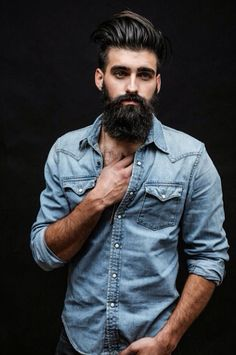 Mens hipster hairstyles are styled in various formats. Best hipster haircuts for men that give you ultimate hipster look with swag. Sexy Bart, Hair And Beard Styles, Long Hair Styles, Estilo Hipster, Great Beards, Beard Love, Perfect Beard, Beard Tattoo, Man Style