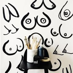Boobs Print by Kate Worum