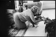 .The Queen and her Corgi's