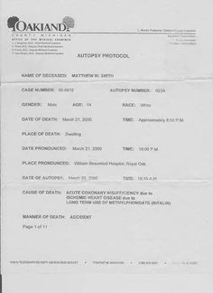 COMPROMISSO CONSCIENTE: Protocolo de Autópsia - Morte do Menino Matthew de...