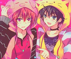 H-Hi were Tokato, and Rei.. We're twin brothers both 16.. Our Mother died so us and our dad moved to Tokyo. We hope to see you around. {Tokato left, Rei right.}