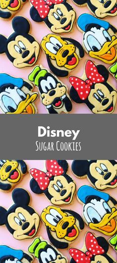 DISNEY Inspired Decorated Sugar Cookies | Mickey Mouse Minnie Donald Duck Goofy Pluto Inspired | Vintage Gift Set #affiliate