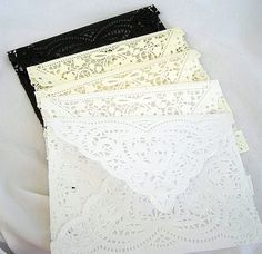 Wedding Invitaion Doily Lace Enclosure by AllThingsAngelas on Etsy