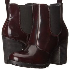 WILL SHIP TODAY Burgundy Boots Burgundy boots. Only worn once for Halloween.       No trades. All offers considered.                                 Available for less on ♏️ercari or via pa♈️pal Steve Madden Shoes Ankle Boots & Booties