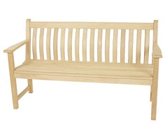 Broadfield Teak Bench - The Alexander Rose Collection: A classy, timeless choice that will give an air of romanticism to your afternoons in the garden. #bench #gardenbench #woodenbench #swing #swingseat #hardwoodfurniture #softwoodfurniture #gardentable #gardenchair #gardenset #picninc #picnictable #picnicbench #alexanderrose #decking #fencing #diy #diygarden #gardenfurniture #gardenfencing #fencingcentre #wakefield #brigg #rotherham #earnshaws #earnshawsfencingcentre
