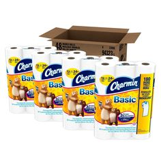roll toilet paper 48 count tissue bathroom clog septic safe charmin