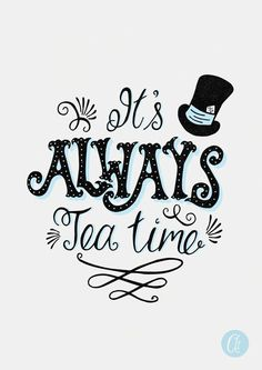 It's Always Tea Time Tea Art Alice in Wonderland by AbbieImagine: