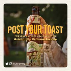 """Post Your Toast to summer with @VictoryBeer Summer Love Ale with the hashtags #VisitPhilly + #SummerLoveAle!"