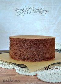 Biszkopt kakaowy rzucany. Biszkopt z dodatkiem wody. Polish Desserts, Polish Recipes, Sweet Recipes, Cake Recipes, Dessert Recipes, Baking Basics, Torte Cake, Sweets Cake, Pumpkin Cheesecake