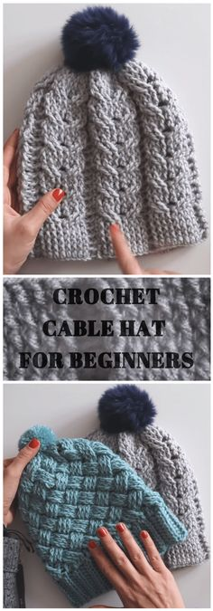 Latest Absolutely Free Crochet for Beginners hat Style Crochet Hat Pattern For Beginners – Crochet Patterns Crochet Bobble, Bonnet Crochet, Crochet Beanie, Crochet Stitches, Crochet Baby, Free Crochet, Finger Crochet, Crochet Scarfs, Crochet Hat Patterns