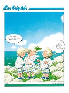 La Boutique Les Triplés - Les affiches - for more inspiration visit http://pinterest.com/franpestel/boards/