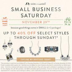 Celebrate small business Saturday!    Shop here!  https://www.chloeandisabel.com/boutique/nicolecossman#50208