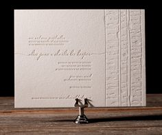 Birch is a soft and delicate ode to nature, letterpress wedding invitations with a chic eco friendly appeal.