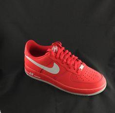 Nike Air Force One AF1 University Red Strata Grey 488298 608 | eBay