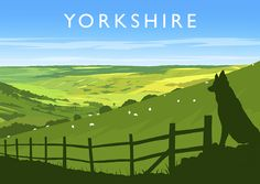Inspired by mid century travel posters, this superb hand-drawn digital art print of Yorkshire by Richard O'Neill makes a great gift and is perfect for framing. All prints are individually signed by the artist. Poster Vintage, Vintage Travel Posters, Gloucester Cathedral, Lighthouse Art, Poster Prints, Art Print, Cross Art, Cottage Art, Travel Illustration