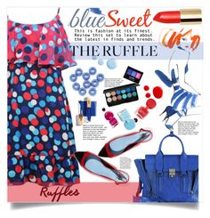 """""""blue and red summer ruffles"""" by licethfashion ❤ liked on Polyvore featuring 3.1 Phillip Lim, Lanvin, Topshop, NYX, Barneys New York, ruffles, polyvoreditorial and licethfashion"""
