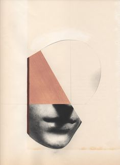 """Leigh Wells  """"Visage""""  2015   collage and mixed media on paper, 12"""" x 9"""""""