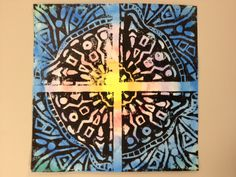 Grade 4 Printmaking:  Watercolor on background; foam printing plate
