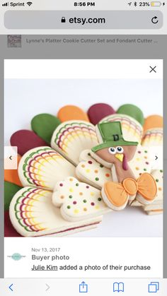 Lynne's Platter Cookie Cutter Set and Fondant Cutter and Clay Cutter Turkey Cookies, Cut Out Cookies, Fun Cookies, Sugar Cookies, Cookies Et Biscuits, Thanksgiving Platter, Thanksgiving Cookies, Holiday Cookies, Thanksgiving Sale