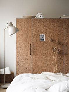 Cork fronted bedroom