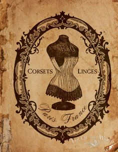 Free Printable Image - French Corset Vintage Advert | Touch the Wood