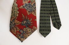 Skinny Tie  Olive Green and Black Very Narrow and by SunnyDayFinds
